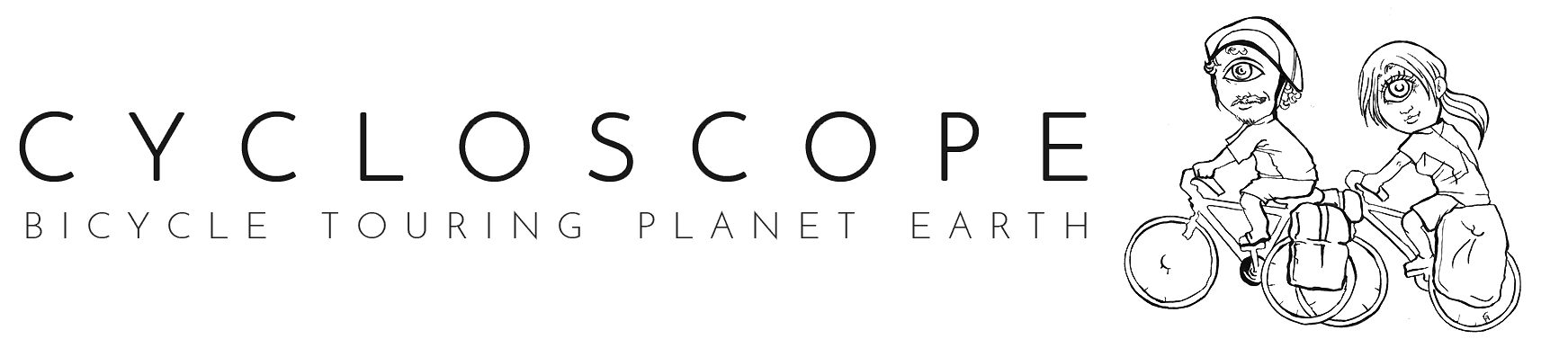 Cycloscope: bicycle touring planet Earth logo